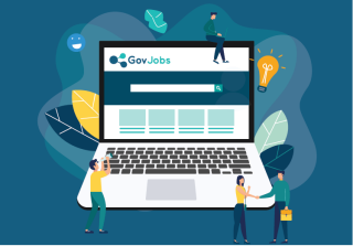 Illustration Laptop GovJobs
